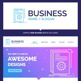 Beautiful Business Concept Brand Name App, build, developer, pro royalty free illustration