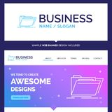 Beautiful Business Concept Brand Name Archive, catalog, director. Y, files, folder Logo Design and Pink and Blue background Website Header Design template. Place stock illustration