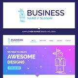 Beautiful Business Concept Brand Name Arrow, choice, choose, dec vector illustration