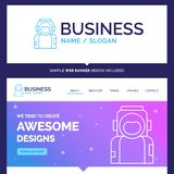 Beautiful Business Concept Brand Name astronaut, space, spaceman vector illustration