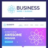 Beautiful Business Concept Brand Name atom, nuclear, molecule, c stock illustration