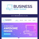 Beautiful Business Concept Brand Name audio, card, external, int royalty free illustration
