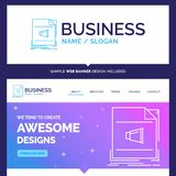 Beautiful Business Concept Brand Name Audio, file, format, music vector illustration