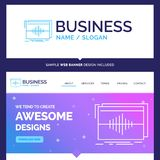 Beautiful Business Concept Brand Name Audio, frequency, hertz, s vector illustration