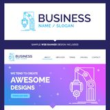 Beautiful Business Concept Brand Name Automation, factory, hand stock illustration