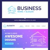 Beautiful Business Concept Brand Name Automation, home, house, s royalty free illustration