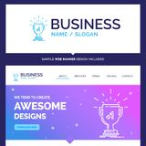 Beautiful Business Concept Brand Name award, trophy, win, prize vector illustration