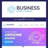Beautiful Business Concept Brand Name Backup, clock, clockwise stock illustration
