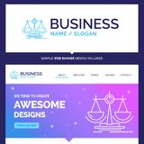 Beautiful Business Concept Brand Name Balance, decision, justice vector illustration