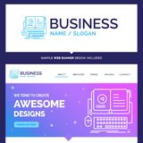 Beautiful Business Concept Brand Name book, ebook, interactive royalty free illustration