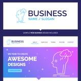 Beautiful Business Concept Brand Name Brainstorm, creative, head stock illustration
