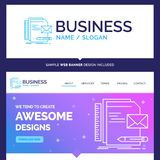 Beautiful Business Concept Brand Name Brand, company, identity stock illustration