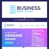 Beautiful Business Concept Brand Name Browser, dynamic, internet royalty free illustration