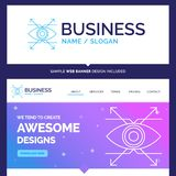 Beautiful Business Concept Brand Name Business, eye, look, visio stock illustration