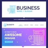 Beautiful Business Concept Brand Name calculator, calculation, m royalty free illustration