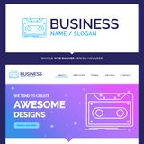Beautiful Business Concept Brand Name Cassette, demo, record, ta royalty free illustration