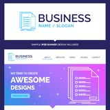Beautiful Business Concept Brand Name Check, filing, list, listi vector illustration