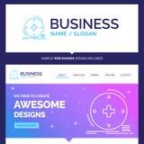 Beautiful Business Concept Brand Name Clinical, digital, health. Healthcare, telemedicine Logo Design and Pink and Blue background Website Header Design stock illustration