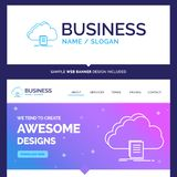 Beautiful Business Concept Brand Name cloud, access, document, f vector illustration