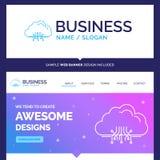 Beautiful Business Concept Brand Name cloud, computing, data, ho vector illustration