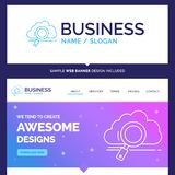Beautiful Business Concept Brand Name cloud, search, storage, te stock illustration