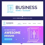Beautiful Business Concept Brand Name Code, edit, editor, langua stock illustration
