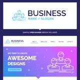 Beautiful Business Concept Brand Name Company, employé, groupe illustration stock