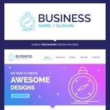 Beautiful Business Concept Brand Name compass, direction, naviga vector illustration