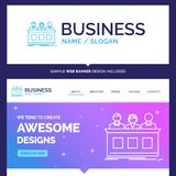 Beautiful Business Concept Brand Name competition, contest, expe stock illustration