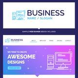 Beautiful Business Concept Brand Name Computer, desktop, gaming vector illustration