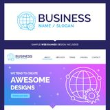 Beautiful Business Concept Brand Name connected, online, world royalty free illustration