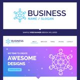 Beautiful Business Concept Brand Name Cooperation, friends, game royalty free illustration