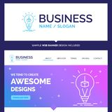 Beautiful Business Concept Brand Name 3d Cube, idea, bulb, print royalty free illustration