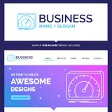 Beautiful Business Concept Brand Name dashboard, device, speed stock illustration