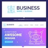Beautiful Business Concept Brand Name design, draft, sketch, ske royalty free illustration