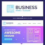 Beautiful Business Concept Brand Name Design, grid, interface, l vector illustration