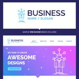 Beautiful Business Concept Brand Name development, human, networ royalty free illustration
