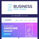 Beautiful Business Concept Brand Name Device, mobile, phone, sma royalty free illustration