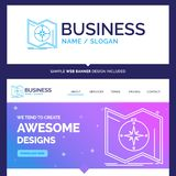 Beautiful Business Concept Brand Name Direction, explore, map, n royalty free illustration