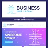Beautiful Business Concept Brand Name Distribution, grid, infras stock illustration