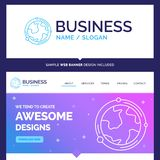 Beautiful Business Concept Brand Name earth, globe, world, geogr vector illustration