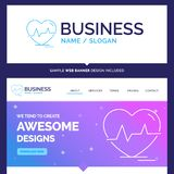 Beautiful Business Concept Brand Name ecg, heart, heartbeat, pul royalty free illustration