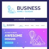 Beautiful Business Concept Brand Name explore, travel, mountains royalty free illustration