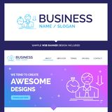 Beautiful Business Concept Brand Name failure, fail, sad, depres vector illustration