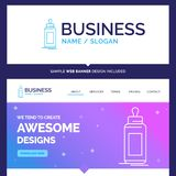 Beautiful Business Concept Brand Name feeder, bottle, child, bab royalty free illustration