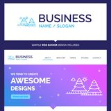 Beautiful Business Concept Brand Name forest, camping, jungle, t stock illustration