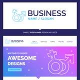 Beautiful Business Concept Brand Name Gender, Venus, Mars, Male vector illustration