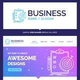 Beautiful Business Concept Brand Name goals, report, analytics vector illustration