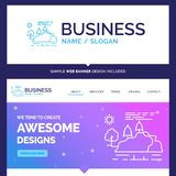 Beautiful Business Concept Brand Name hill, landscape, nature, m stock illustration