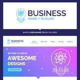 Beautiful Business Concept Brand Name idea, innovation, light, s vector illustration